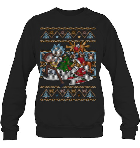 Rick And Morty Ugly Christmas Sweater.Rick Morty Ugly Christmas Sweaters Ugly Christmas