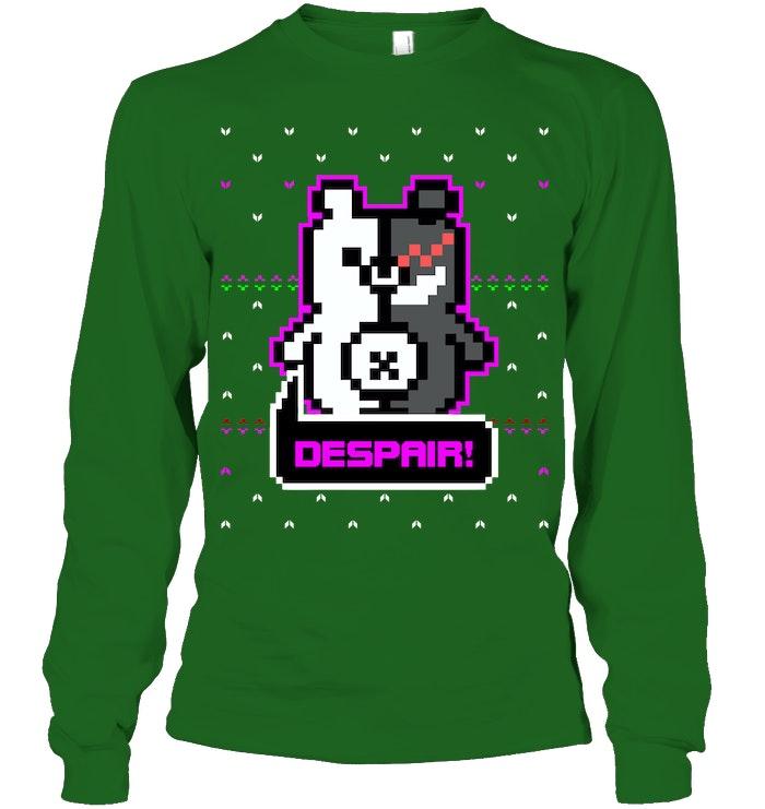 Monokuma Despair Ugly Christmas Sweater
