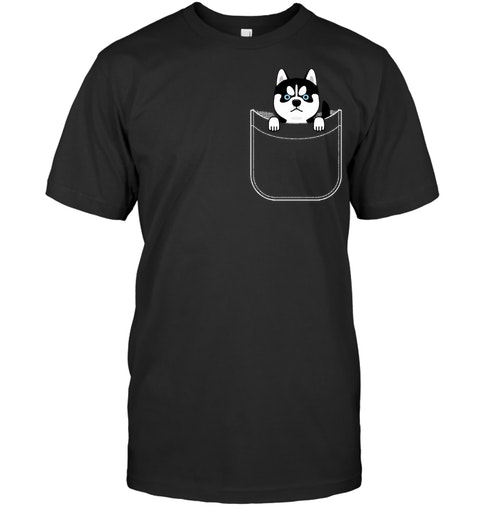 1643d310 Add to cart. husky in pocket funny cute puppy expression