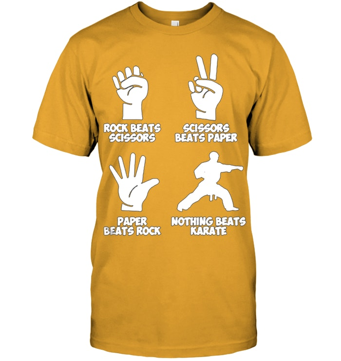 31c0f2be Rock Paper Nothing Beats Karate T Shirt