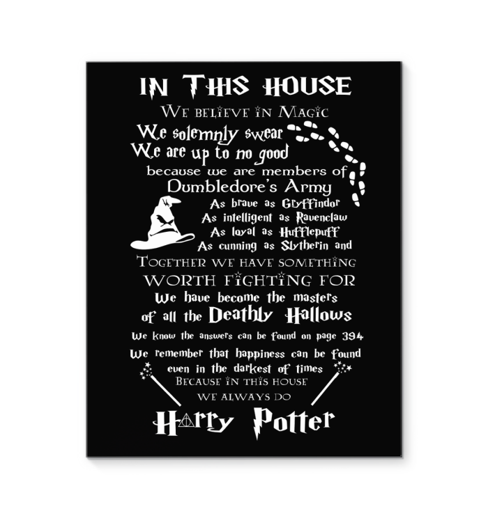 In This House Print Canvas