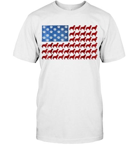 d855a3f6 American Flag Golden Retriever T Shirt Golden Retriever Gi
