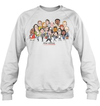 3b3a2aec2 The Office Cast Cartoon Drawing T Shirt