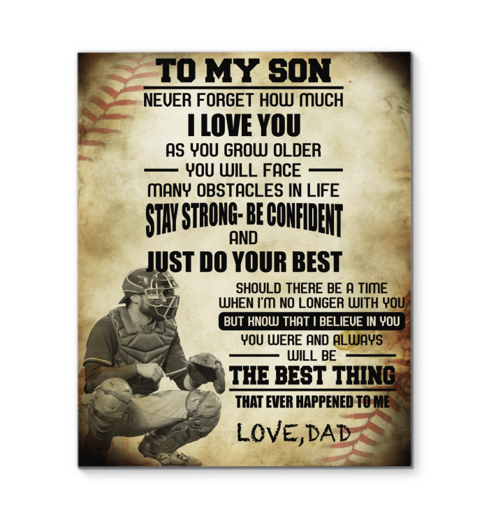 Baseball Canvas To My Son