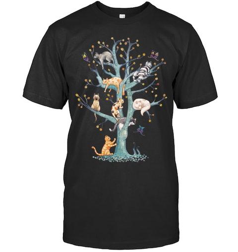 ccda04be Cats Family Tree T Shirts