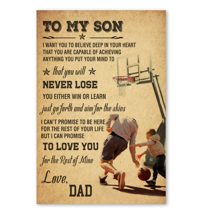 1610a621 Basketball To My Son Poster