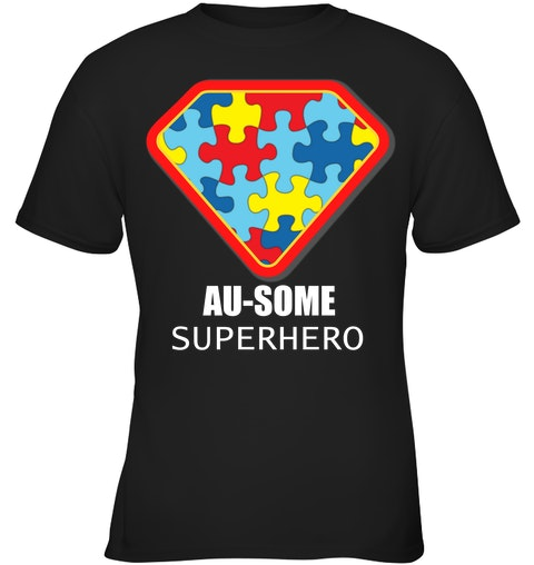ee2b0ff3d au some superhero autism awareness t shirt puzzle piece support dad mom kid  gift
