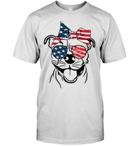 b2f75fa5 Pitbull American Flag 4th Of July T Shirt