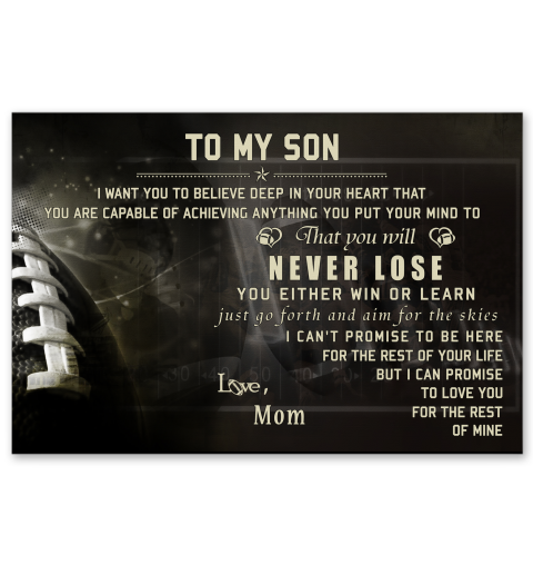 a7aa76d6 American football. LP Mom to son. never lose LDA