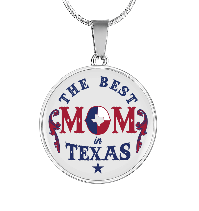 The Best Mom in Texas Mom Necklace Mothers Day Gift