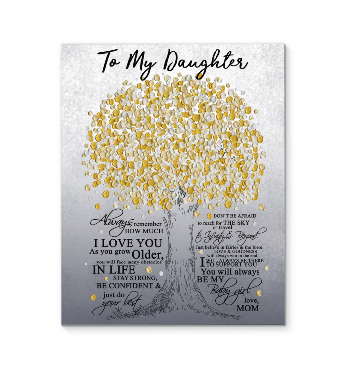 CANVAS - TO MY DAUGHTER, YOU WILL ALWAYS BE MY BABY GIRL - MOM