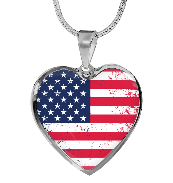 American Flag necklace Independence Day jewelry 4th of July