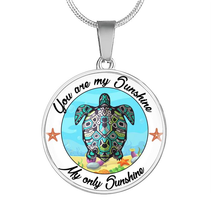 Turtle sunshine necklace
