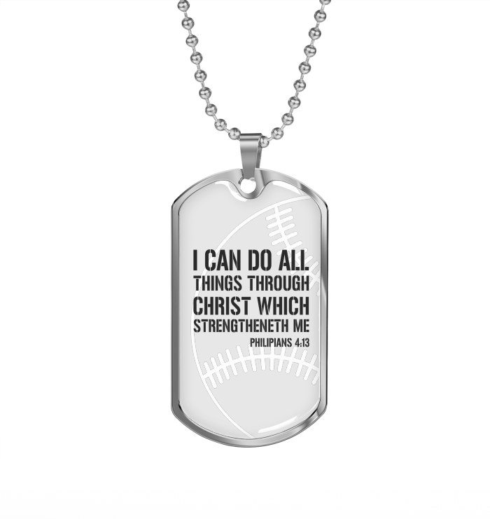 Baseball I Can Do All Necklace